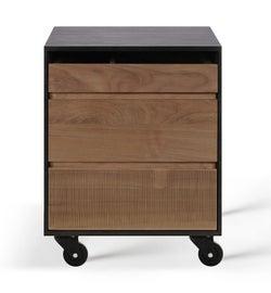 Ethnicraft Oscar Teak 3 Drawer Filing Cabinet