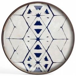 Notre Monde Tribal Hexagon Small Round Glass Tray