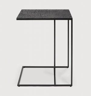 Ethnicraft Triptic Lava Black Metal Side Table