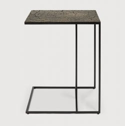 Ethnicraft Triptic Lava Whisky Metal Side Table