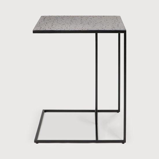 Ethnicraft Triptic Lava Taupe Metal Side Table