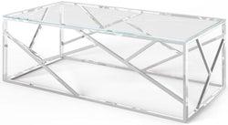 Kieta Glass and Chrome Coffee Table