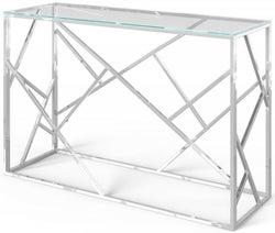 Kieta Glass and Chrome Console Table