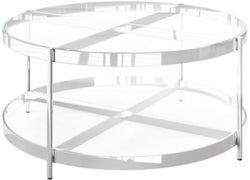 Omari Glass and Chrome Coffee Table