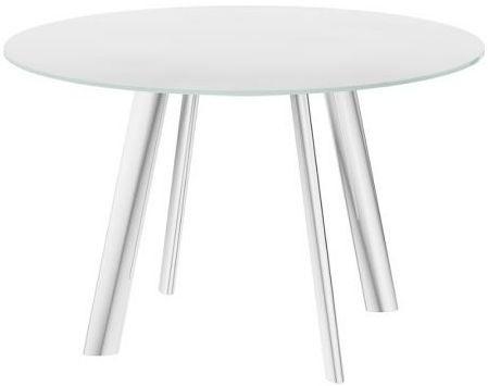 Omega White Swivel Extending Dining Table
