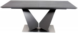 Westin Grey Ceramic Butterfly Extending Dining Table