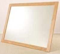 Clearance - Tuscany Oak Rectangular Wall Mirror - 130cm x 90cm - New - FSS8903