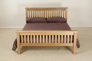 Country Oak High Foot End Bed