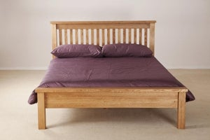 Country Oak Low Foot End Bed