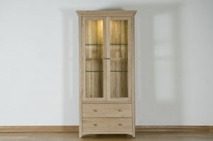 Toulouse Oak Display Cabinet