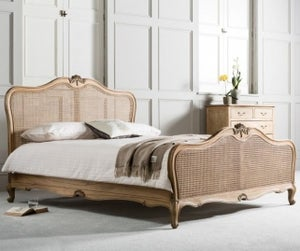 Frank Hudson Chic 5ft Cane Bed - Weathered
