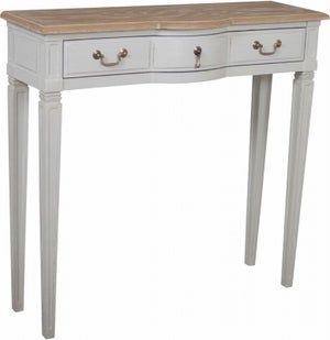 Bonaparte French Oak and Putty Painted Console Table