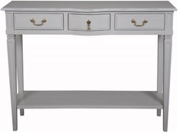 Bonaparte French Putty Painted 3 Drawer Console Table