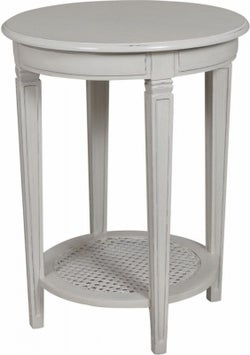 Bonaparte French Putty Painted Round Side Table