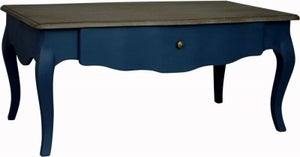Boudoir French Stiff Key Blue Painted Coffee Table
