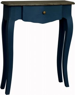 Boudoir French Stiff Key Blue Painted Small Console Table