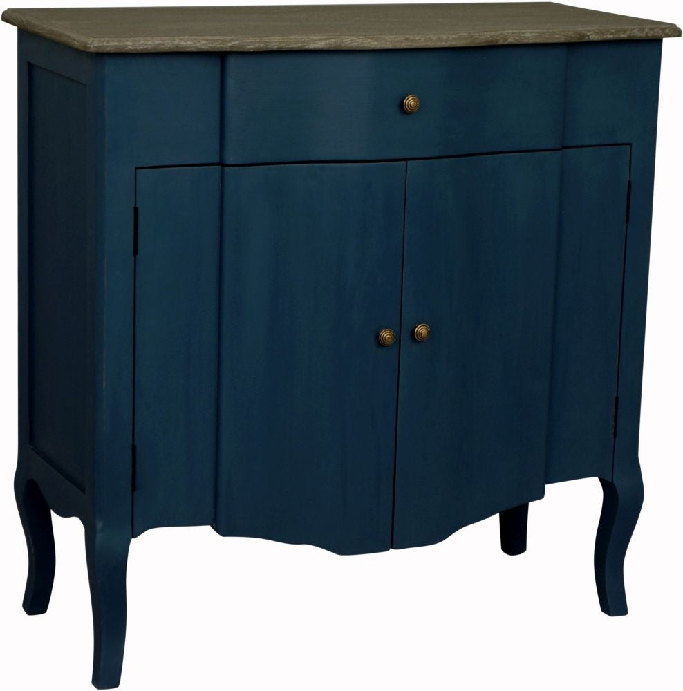 Boudoir French Stiff Key Blue Painted Small Sideboard