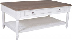 Delphine French Off-White Painted Coffee Table