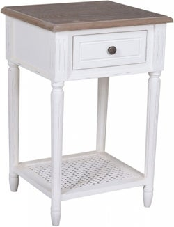 Delphine French Off-White Painted Side Table