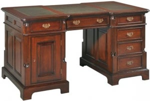 Palais French Mahogany and Green Leather 160cm Partners Desk