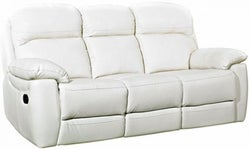 Aston Ivory Leather 3 Seater Recliner Sofa