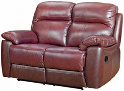 Aston Chestnut Leather 2 Seater Recliner Sofa