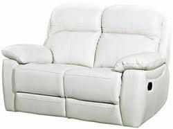 Aston Ivory Leather 2 Seater Fixed Sofa