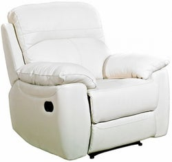 Aston Ivory Leather Recliner Armchair