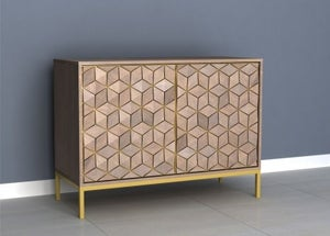 Elyse 3D Cube Mango Wood Sideboard