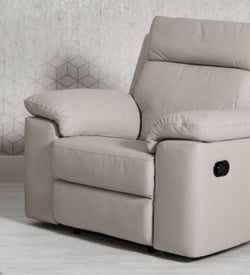 Enzo Putty Leather Recliner Armchair