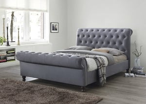 Grace Grey Fabric Bed