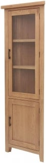 Hampshire Oak Corner Display Cabinet