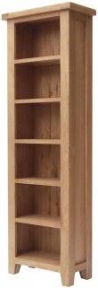 Hampshire Oak Narrow Bookcase