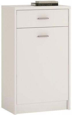 4 You Pearl White 1 Door Cupboard