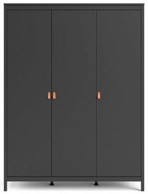 Barcelona Matt Black 3 Door Wardrobe