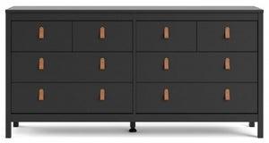 Barcelona Matt Black Double Dresser