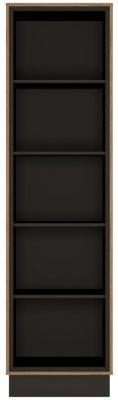 Brolo Tall Bookcase - Dark Walnut and High Gloss White
