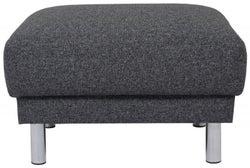 Cleveland Nova Antracit Fabric Footstool