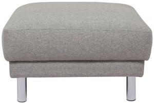 Cleveland Nova Light Grey Fabic Footstool