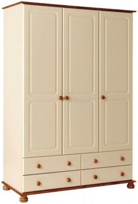 Copenhagen Cream 3 Door Wardrobe