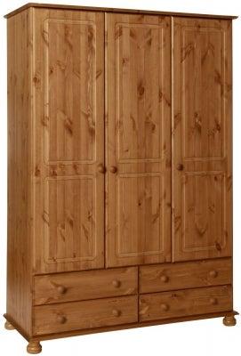 Copenhagen Pine 3 Door Wardrobe