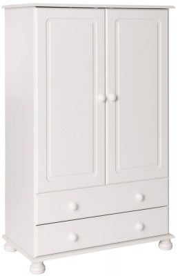 Copenhagen White 2 Door Wardrobe