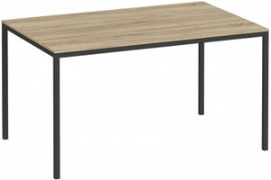 Family Oak and Black 140cm Dining Table