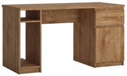 Fribo Oak Twin Pedestal Desk