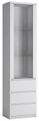 Fribo White Tall Narrow Display Cabinet