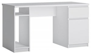 Fribo White Twin Pedestal Desk