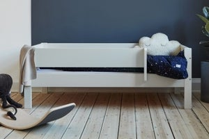 Huxie White Day Bed with Safety Rail