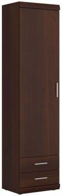 Imperial Tall Display Cabinet - Dark Mahogany Melamine