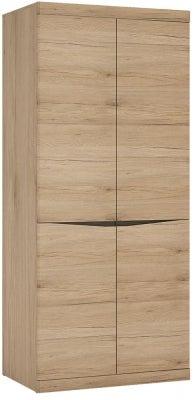 Kensington Oak Tall Wide Cupboard