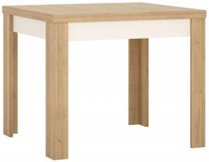 Lyon Small Extending Dining Table - Riviera Oak and High Gloss White